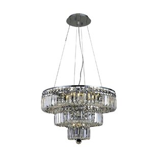 House of Hampton Langer 9-Light Crystal Chandelier