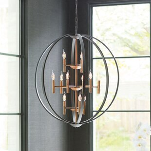 Willa Arlo Interiors Kieran 12-Light Globe Chandelier
