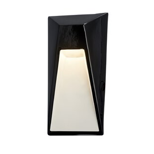 Mirabel 1-Light LED Flush Mount By Orren Ellis Outdoor Lighting