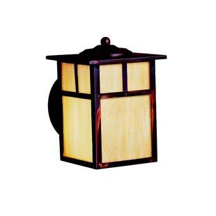 Daveney 1-Light Glass Outdoor Wall Lantern by Bloomsbury Market