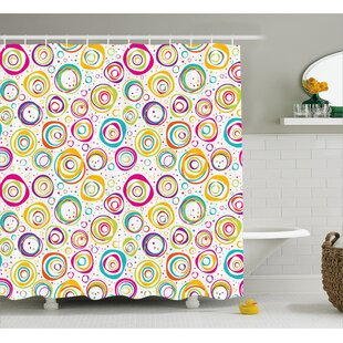 Judy Kids Spiral and Dots Single Shower Curtain