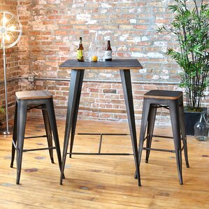 claremont 3 piece pub table set