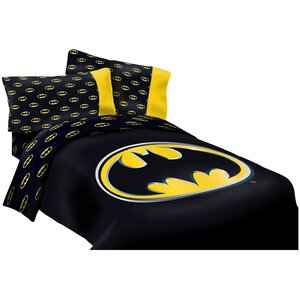 Batman Emblem Reversible Super Soft Luxury Comforter Set