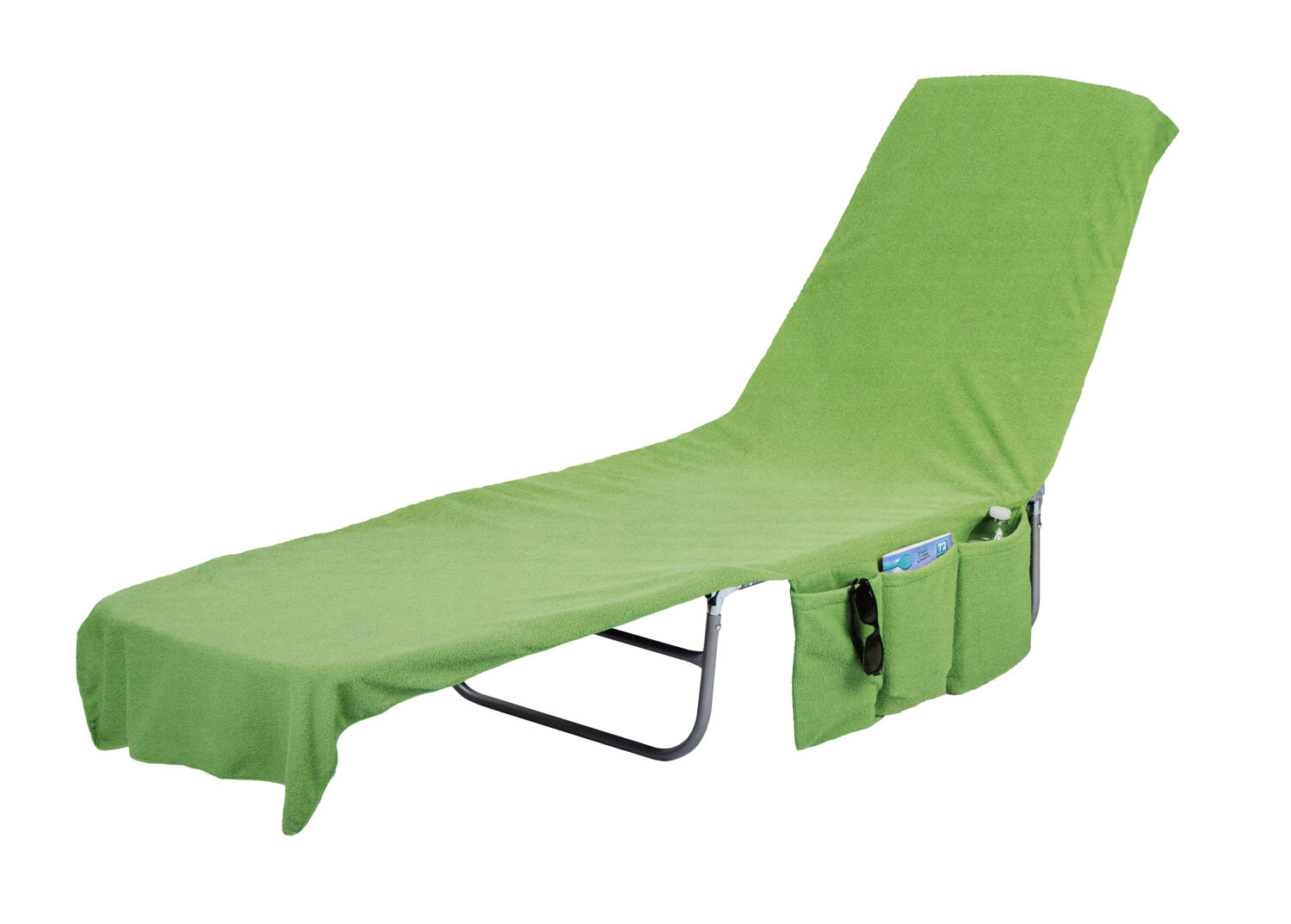 Outstanding 2 In 1 Terry Cloth Chaise Pool Lounge Cover Beach Towel And Tote With Pockets Machost Co Dining Chair Design Ideas Machostcouk