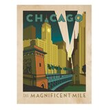 'Chicago Magnificent Mile' by Joel Anderson Graphic Art on Wood