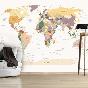 World map wallpaper wayfair world map 21m x 300cm wallpaper gumiabroncs Image collections
