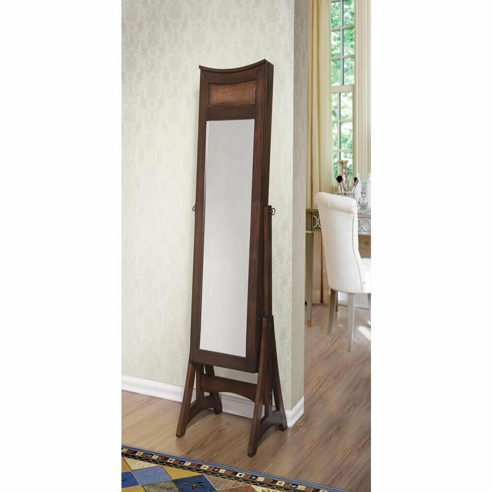 Armoire D Angle Dressing long cheval free standing jewelry armoire with mirror