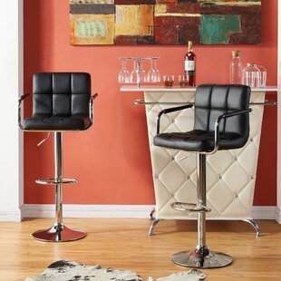 Top Reviews Tucanae Adjustable Height Swivel Bar Stool (Set of 2) by Orren Ellis Reviews (2019) & Buyer's Guide