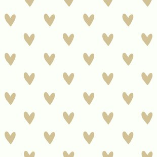 Akeman 16 5 L X 20 W Gold Heart Spot And Stick Wallpaper Roll