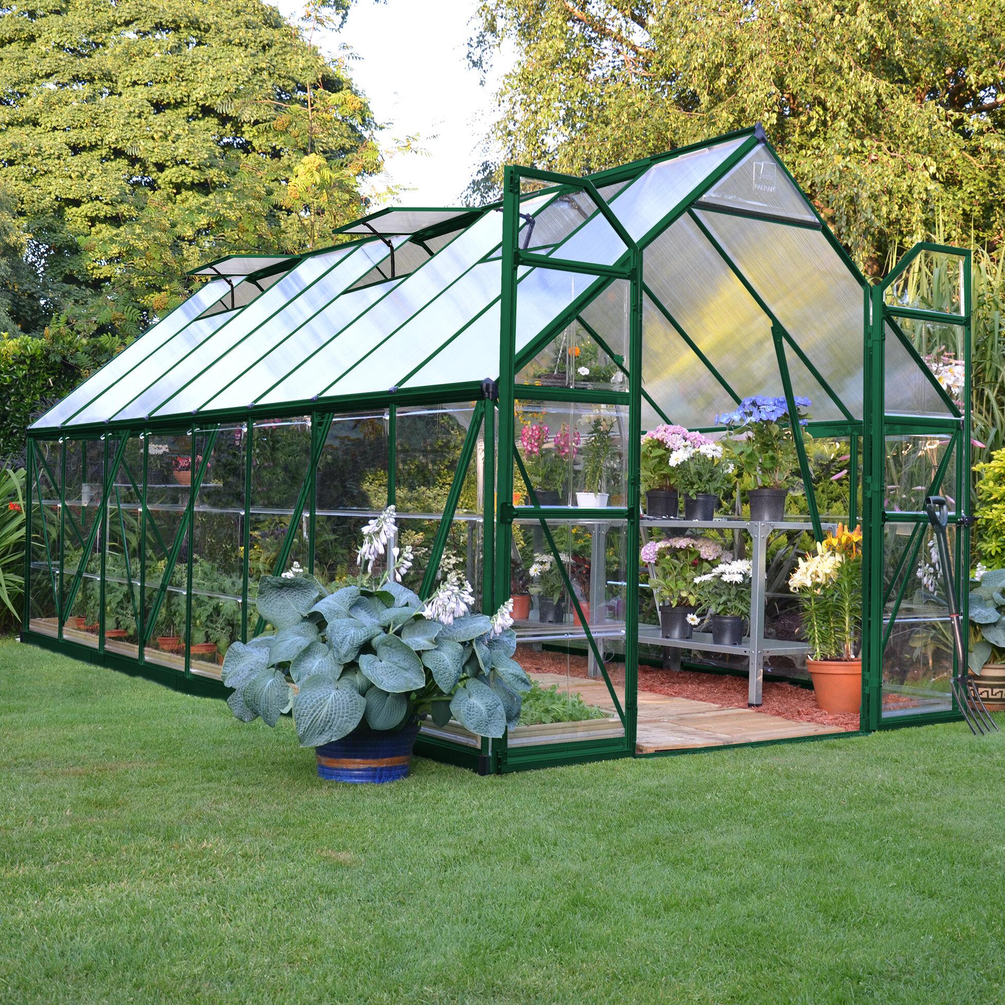 & Palram Balance Greenhouse in  8u0027 x 16u0027 u0026 Reviews | Wayfair