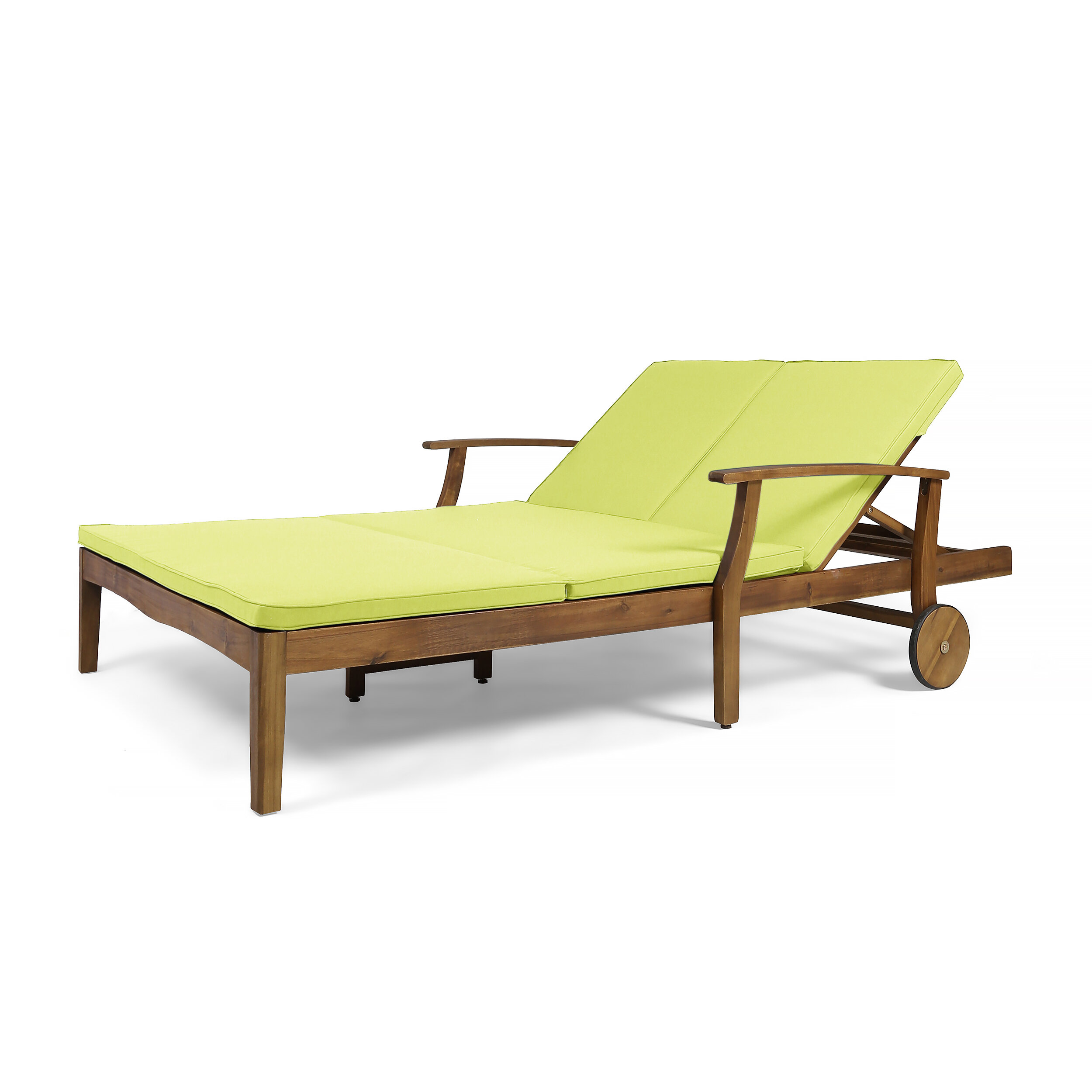 Fine Antonia Double Reclining Teak Chaise Lounge With Cushion Bralicious Painted Fabric Chair Ideas Braliciousco