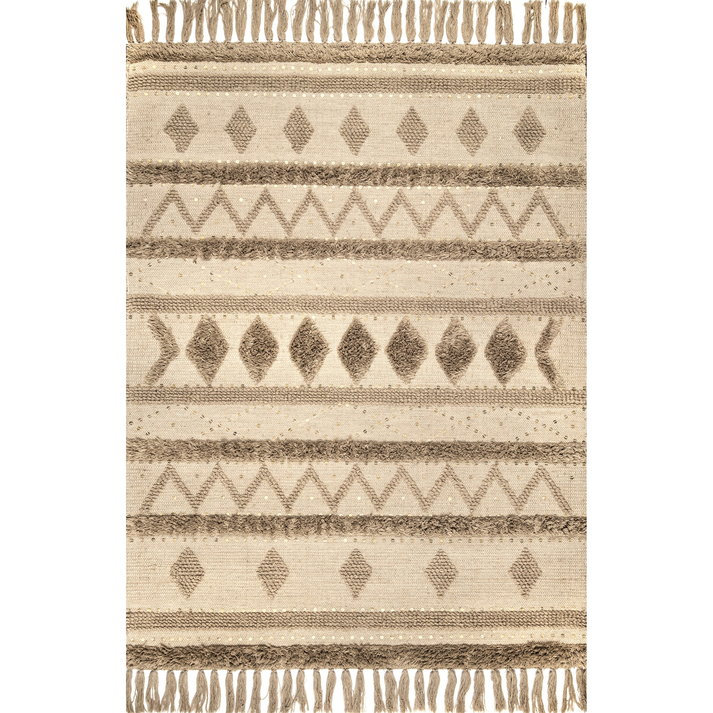 Union Rustic Barajas Hand Knotted Wool Beige Area Rug Reviews Wayfair