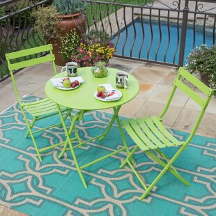 Leland 3 Piece Patio Bistro Set