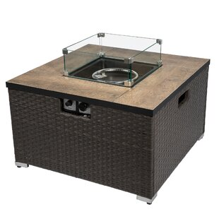 Faya Steel Propane Gas Fire Pit Table By Sol 72 Outdoor