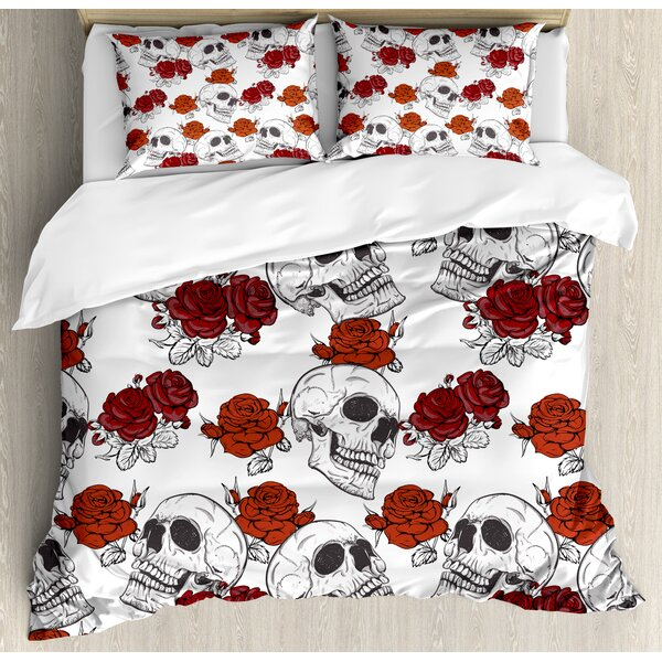 Bloody dead bedding halloween skeleton skull horror decoration