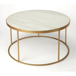 Everly Quinn Koehler Marble Coffee Table