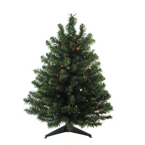 2 green artificial christmas tree with 30 led multi color lights and stand - Porcelain Christmas Tree With Lights