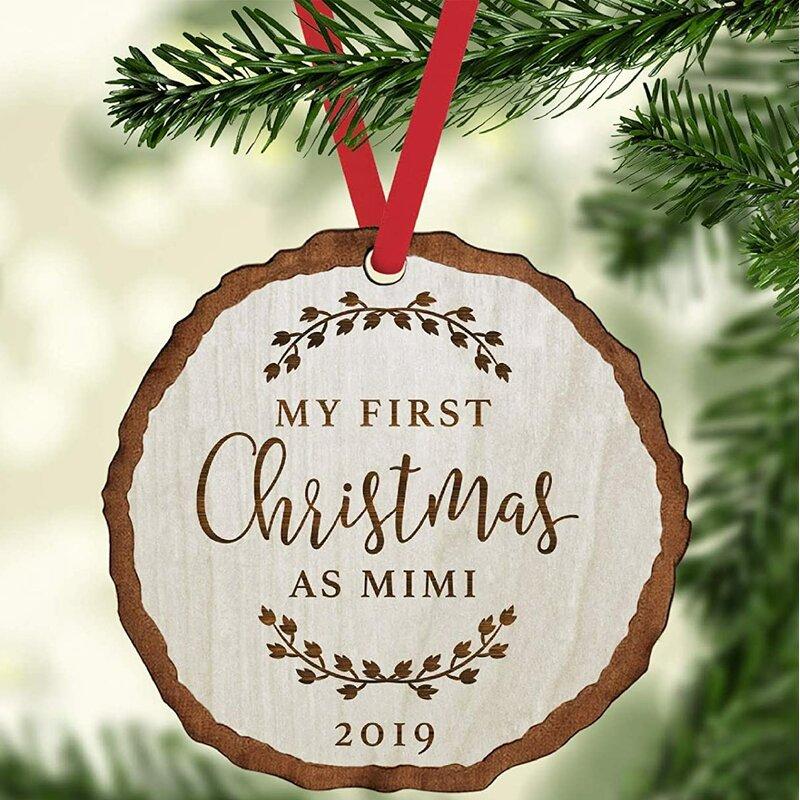 Personalized Customized Wood Christmas Ornament Basswood