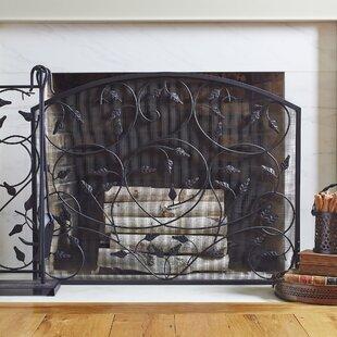 Peterson Single Panel Iron Fireplace Screen by Birch Lane?