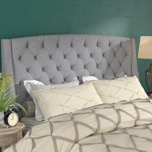 Three Posts Chandeleur Upholstered Wingback Headboard