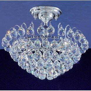 Classic Lighting Diamante 3-Light Semi-Flush Mount