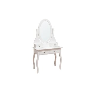 Dalewood Dressing Table With Mirror By Brambly Cottage