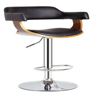 Stamps Adjustable Height Swivel Bar Stool Orren Ellis