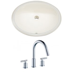 Purchase Ceramic Oval Undermount Bathroom Sink with Faucet and Overflow By Royal Purple Bath Kitchen