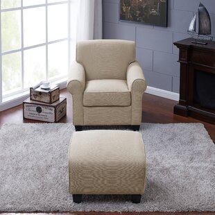 Affordable Aine Armchair and Ottoman by Andover Mills