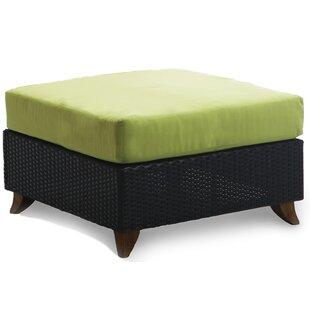 Scottsmoor Outdoor Teak Ottoman with Cushion by Brayden Studio