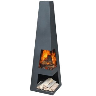 Hendry Steel Chiminea By Sol 72 Outdoor