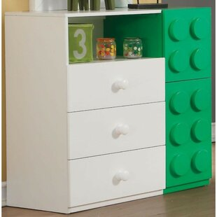 Cedarburg Wood 3 Drawer Dresser by Zoomie Kids