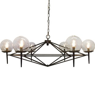 6-Light Geometric Chandelier b..