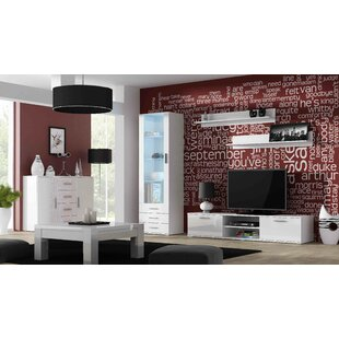 Ellenburg 5 Piece Entertainment Center Set for TVs up to 75