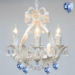 Flower 4-Light Shaded Chandelier by Harri..
