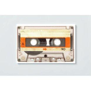 Cassettes Motif Magnetic Wall Mounted Cork Board By Ebern Designs