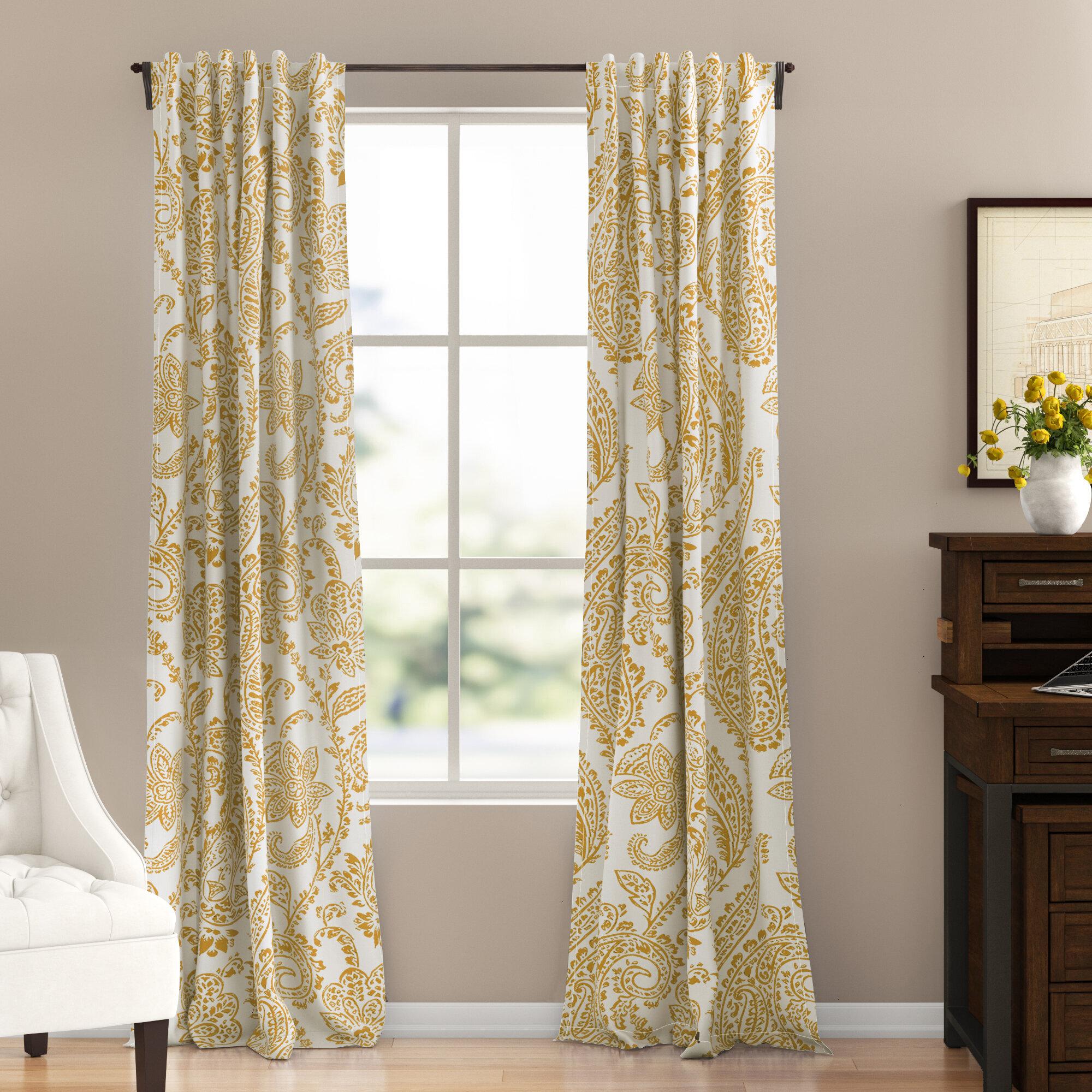 Three Posts Bryton Floral Room Darkening Rod Pocket Single Curtain Panel Reviews Wayfair,Kitchenaid Dishwasher Inside