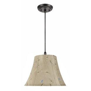 Manuel 1-Light Bell Pendant by Winston Porter
