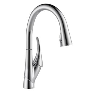 Delta Esque Pull Down Touch Single Handle Kitchen Faucet with Diamond Seal Technology