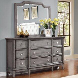 One Allium Way Palmisano 9 Drawer Dresser