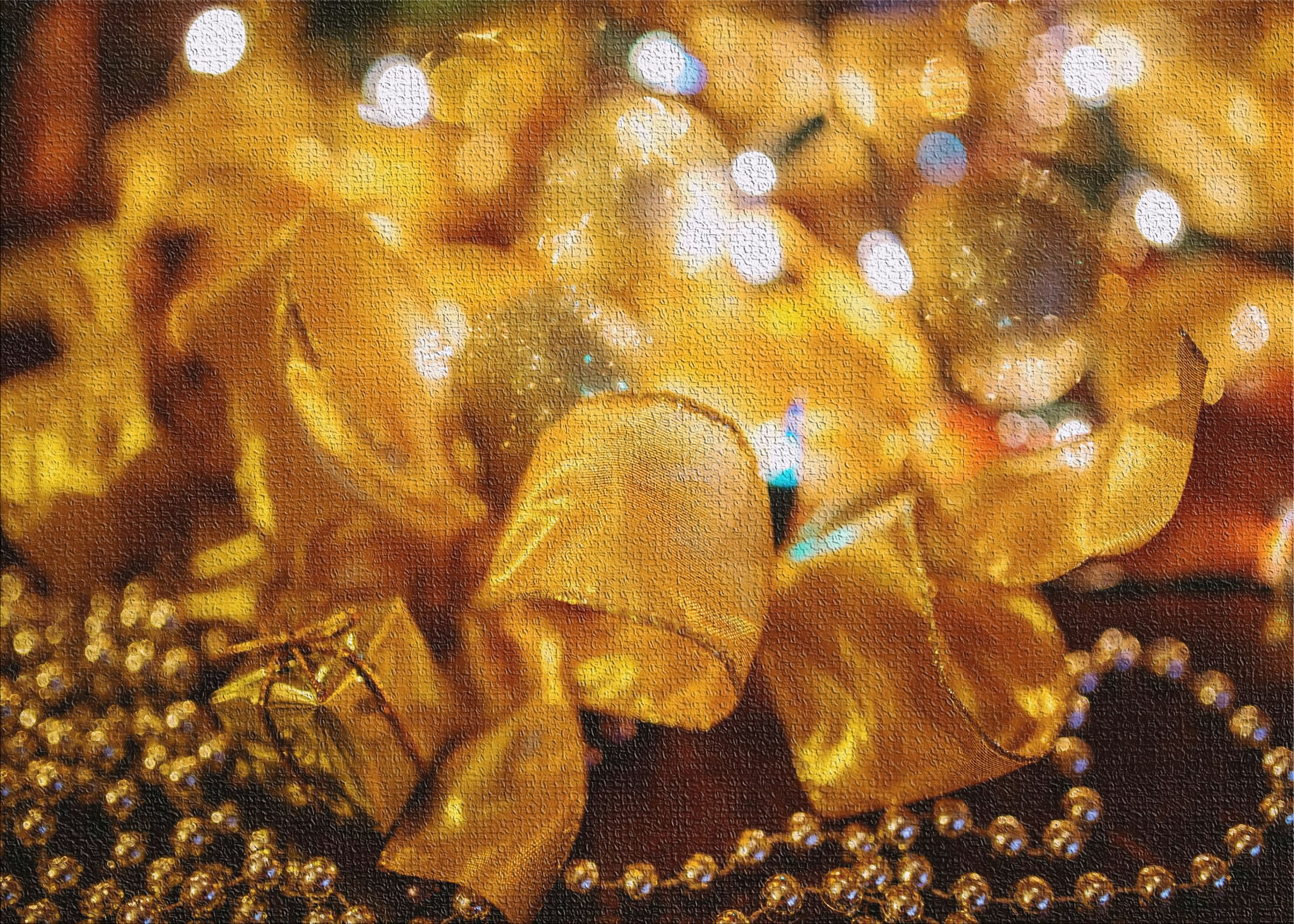 East Urban Home Christmas Gold Area Rug Wayfair