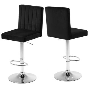 Amaryllis Adjustable Height Bar Stool (Set of 2) Latitude Run