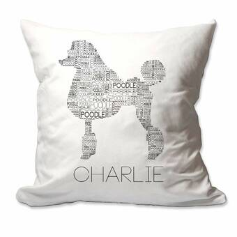 The Twillery Co Benson Personalized Brush Script Mr Mrs Throw Pillow Cover Wayfair