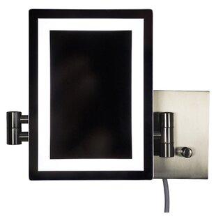 Royal Purple Bath Kitchen Mccroskey Rectangle Brass-LED Wall Mount Magnifying Vanity Mirror