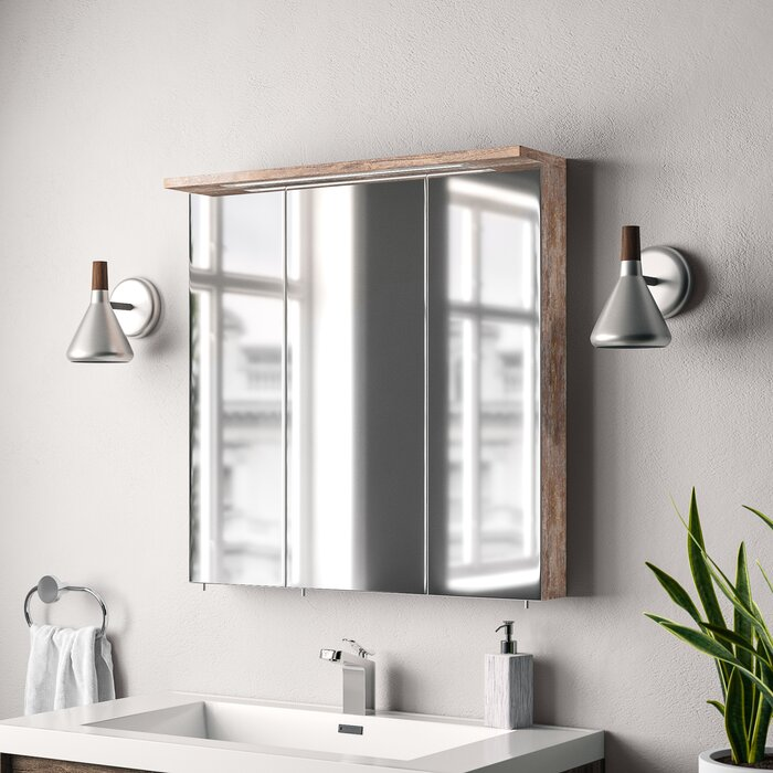 Eria 70 5cm X 72 Mirror Cabinet With Lighting