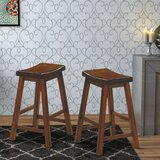Rita Solid Wood 24 Counter Bar Stool (Set of 2) by Winston Porter
