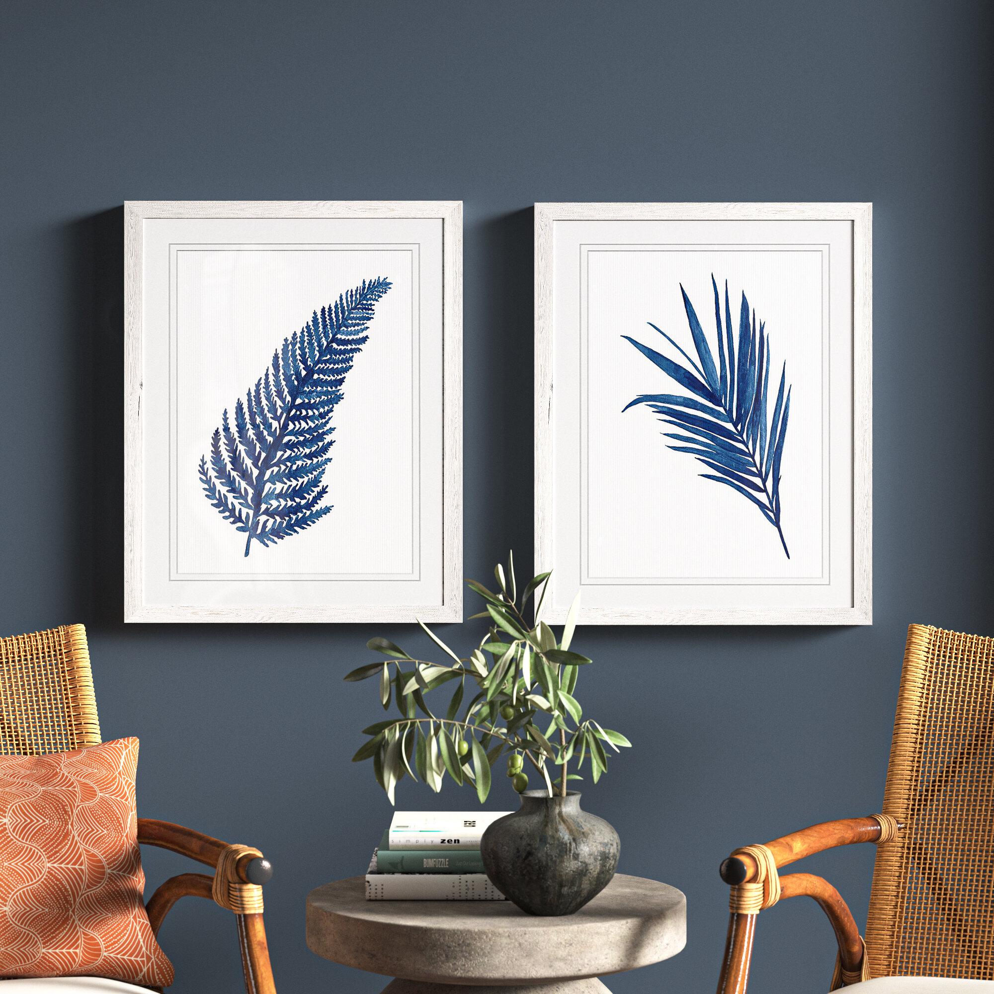 Bay Isle Home Indigo Botanica Iii By Vincent Van Gogh 2 Piece Picture Frame Painting Print Set Reviews Wayfair