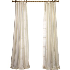 Amdt Textured Dupioni Silk Single Curtain Panel