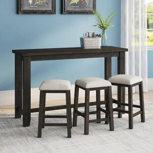 Sunburst Multi-purpose 4 Piece Pub Table Set Three Posts