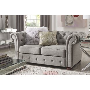 Vegard Tufted Chesterfield Loveseat by Wi..